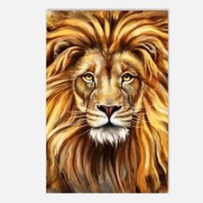 Artistic Lion Face Postcards (Package of 8)
