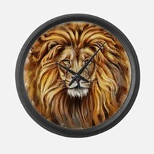 Artistic Lion Face Large Wall Clock