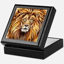 Artistic Lion Face Keepsake Box