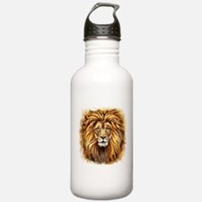 Artistic Lion Face Water Bottle