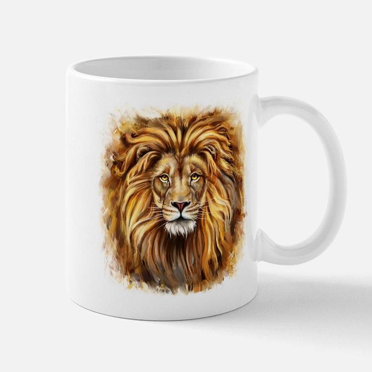 Artistic Lion Face Mug