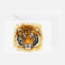 Artistic Tiger Face Greeting Card