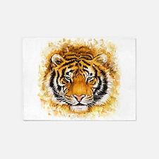 Artistic Tiger Face 5'x7'Area Rug