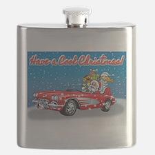 Vintage Car Santa Flask