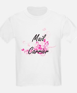 Mail Carrier Artistic Job Design with Flow T-Shirt