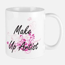 Make Up Artist Artistic Job Design with Flowe Mugs