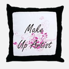 Make Up Artist Artistic Job Design wi Throw Pillow