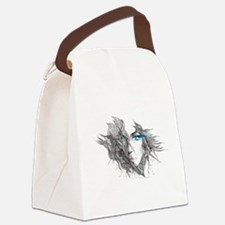 Artistic Female Face Canvas Lunch Bag