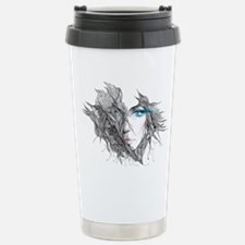 Artistic Female Face Stainless Steel Travel Mug