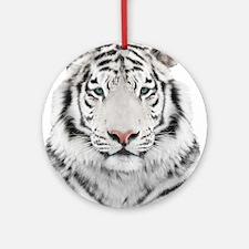 White Tiger Head Round Ornament