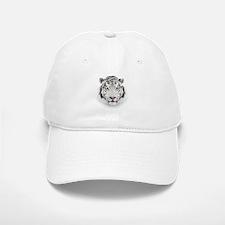 White Tiger Head Baseball Baseball Cap