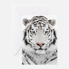 White Tiger Head Greeting Card