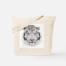 White Tiger Head Tote Bag