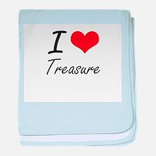 I love Treasure baby blanket