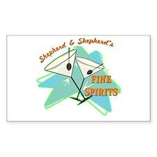 Shepherd & Shepherd's Rectangle Decal
