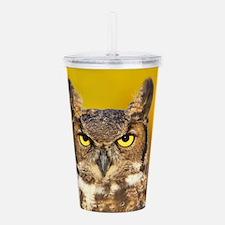 Horned Owl Face Acrylic Double-wall Tumbler