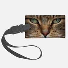 Tabby Cat Face Luggage Tag