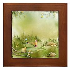 Easter Landscape Framed Tile