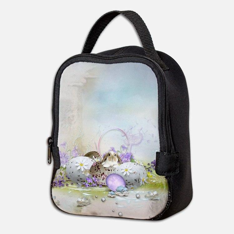 Easter Eggs Neoprene Lunch Bag