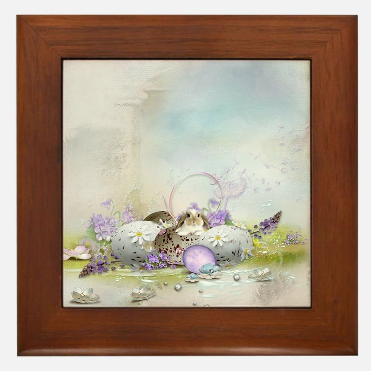 Easter Eggs Framed Tile