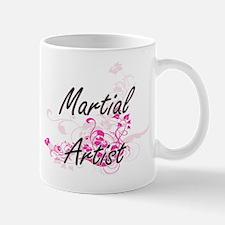 Martial Artist Artistic Job Design with Flowe Mugs