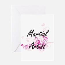 Martial Artist Artistic Job Design Greeting Cards
