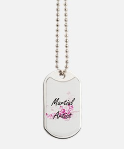 Martial Artist Artistic Job Design with F Dog Tags