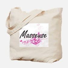 Masseuse Artistic Job Design with Flowers Tote Bag