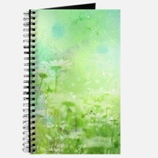 Green Watercolor Floral Journal