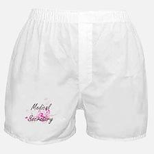 Medical Secretary Artistic Job Design Boxer Shorts
