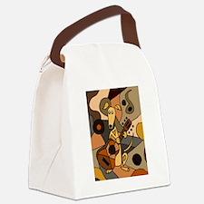 Greyhound Playing Guitar Art Canvas Lunch Bag