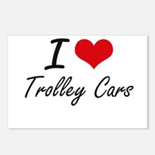 I love Trolley Cars Postcards (Package of 8)