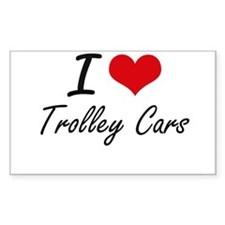 I love Trolley Cars Decal