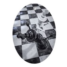 Checkmate Knockout Oval Ornament