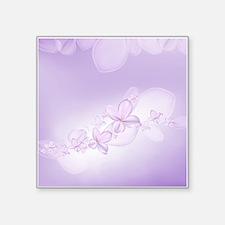"Soft Lilac Flowers Square Sticker 3"" x 3"""