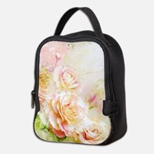 Watercolor Roses Neoprene Lunch Bag