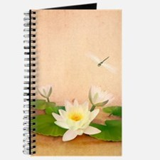 Lotus and Dragonfly Grunge Journal