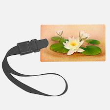 Lotus Grunge Luggage Tag