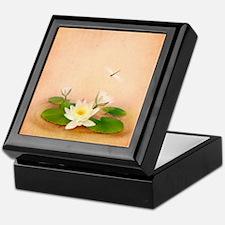 Lotus and Dragonfly Grunge Keepsake Box