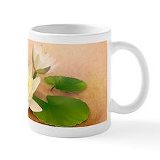 Lotus and Dragonfly Grunge Mug