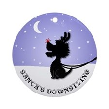 Westie Christmas Ornament (Round)