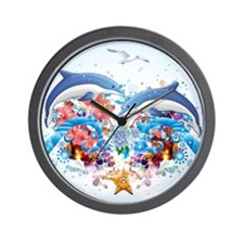 Marine Collage Wall Clock