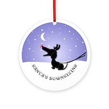 Dachshund Christmas Ornament (Round)