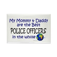Best Police Officers In The World Rectangle Magnet
