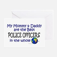 Best Police Officers In The World Greeting Card