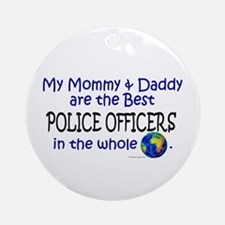 Best Police Officers In The World Ornament (Round)