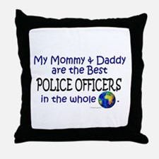 Best Police Officers In The World Throw Pillow