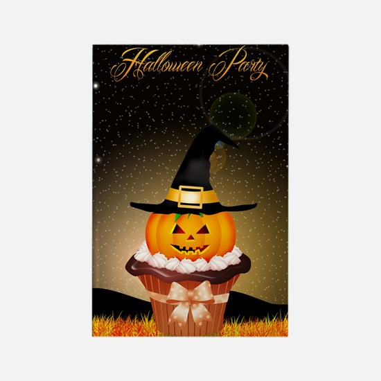 Halloween Cupcake Party Rectangle Magnet