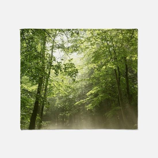 Spring Forest Mist Throw Blanket
