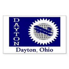 Dayton OH Flag Rectangle Decal
